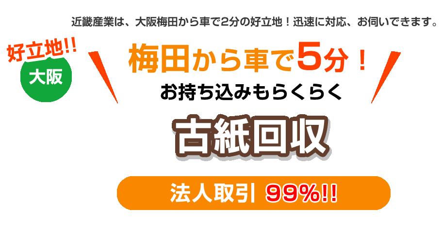 好立地 大阪 機密文書・古紙 法人取引 99%!!